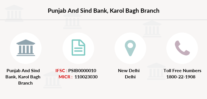 Punjab-and-sind-bank Karol-bagh branch