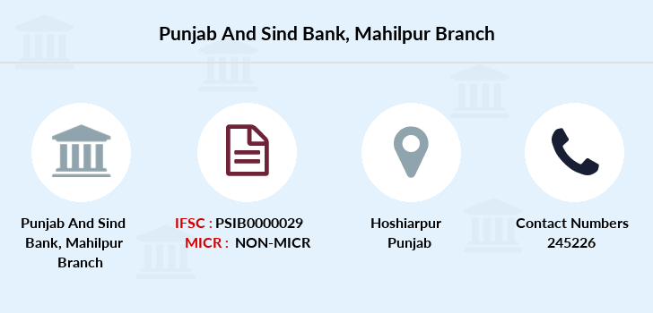 Punjab-and-sind-bank Mahilpur-hoshiarpur branch