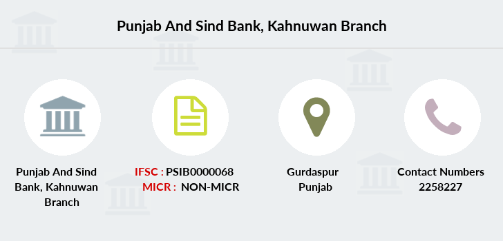 Punjab-and-sind-bank Kahnuwan branch