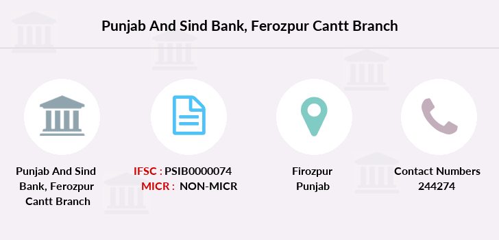 Punjab-and-sind-bank Ferozpur-cantt branch
