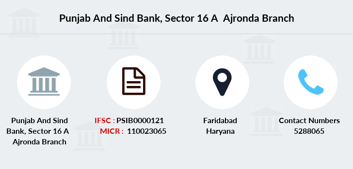 Punjab-and-sind-bank Sector-16-a-ajronda branch