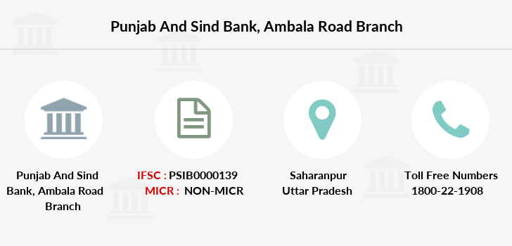 Punjab-and-sind-bank Ambala-road branch