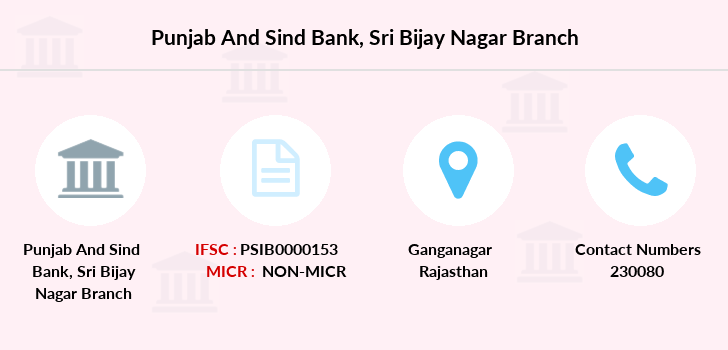 Punjab-and-sind-bank Sri-bijay-nagar branch