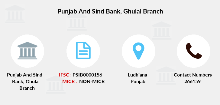 Punjab-and-sind-bank Ghulal branch