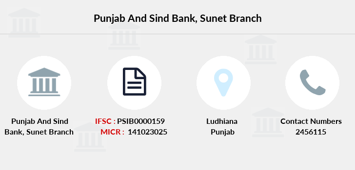 Punjab-and-sind-bank Sunet branch