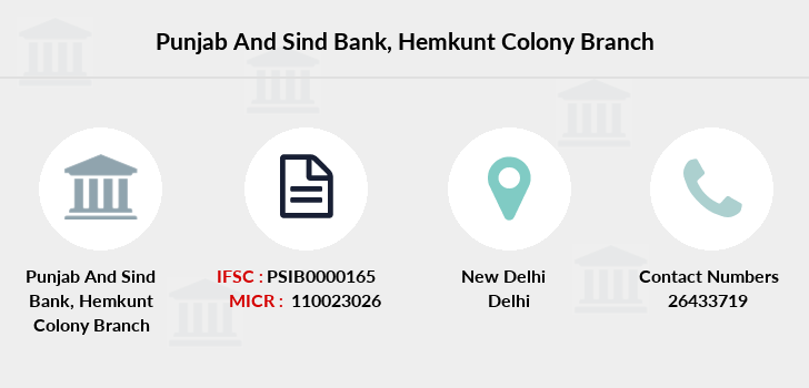 Punjab-and-sind-bank Hemkunt-colony branch
