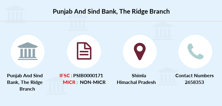 Punjab-and-sind-bank The-ridge-shimla branch