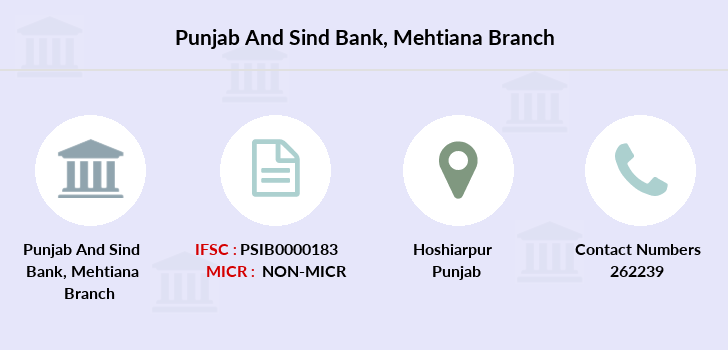 Punjab-and-sind-bank Mehtiana branch