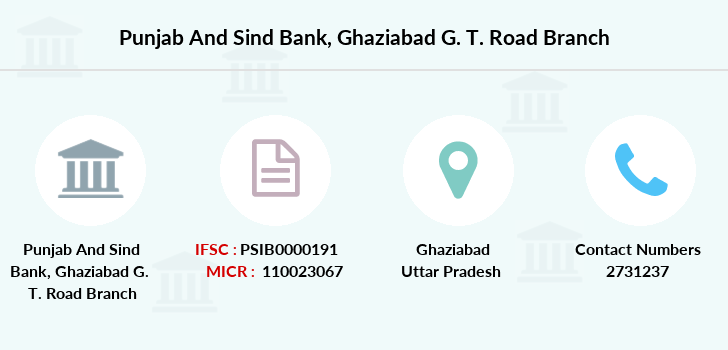 Punjab-and-sind-bank Ghaziabad-g-t-road branch