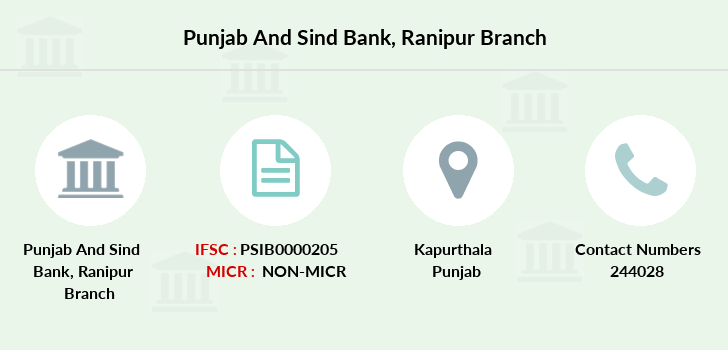 Punjab-and-sind-bank Ranipur branch