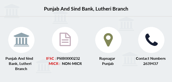 Punjab-and-sind-bank Lutheri branch