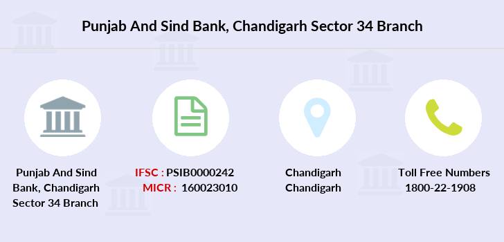 Punjab-and-sind-bank Chandigarh-sector-34 branch