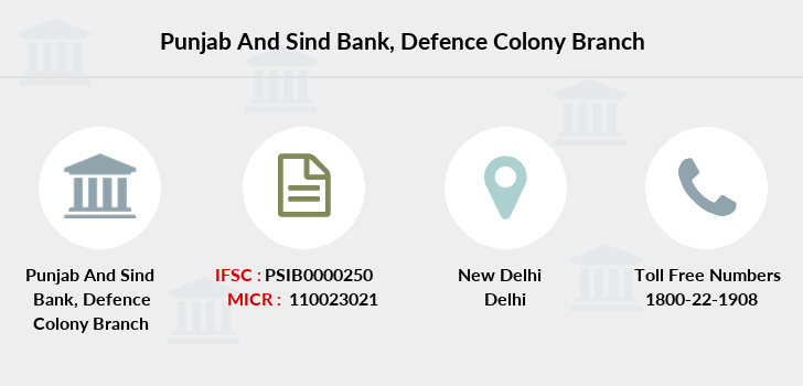 Punjab-and-sind-bank Defence-colony branch