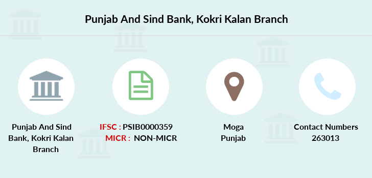 Punjab-and-sind-bank Kokri-kalan branch