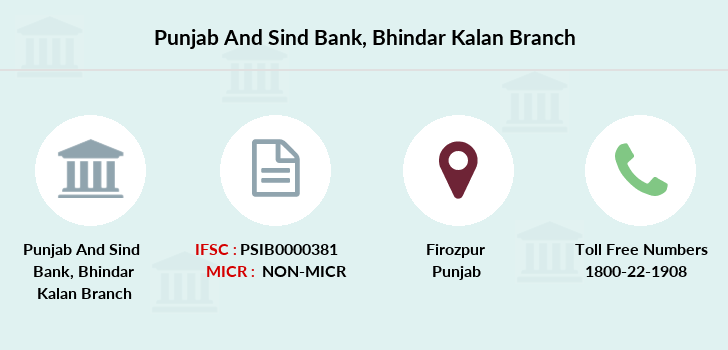 Punjab-and-sind-bank Bhindar-kalan branch