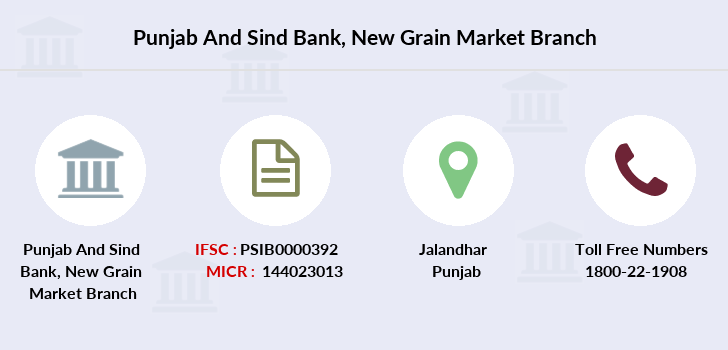 Punjab-and-sind-bank New-grain-market branch