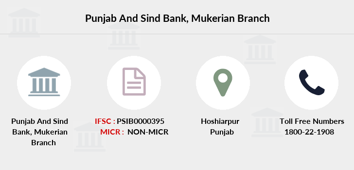 Punjab-and-sind-bank Mukerian branch