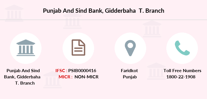 Punjab-and-sind-bank Gidderbaha-faridkot branch