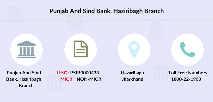 Punjab-and-sind-bank Haziribagh branch