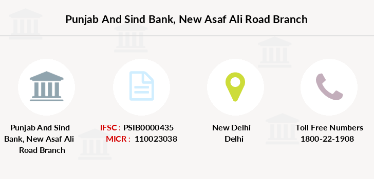 Punjab-and-sind-bank New-asaf-ali-road branch