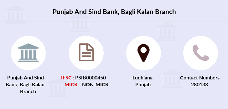 Punjab-and-sind-bank Bagli-kalan branch