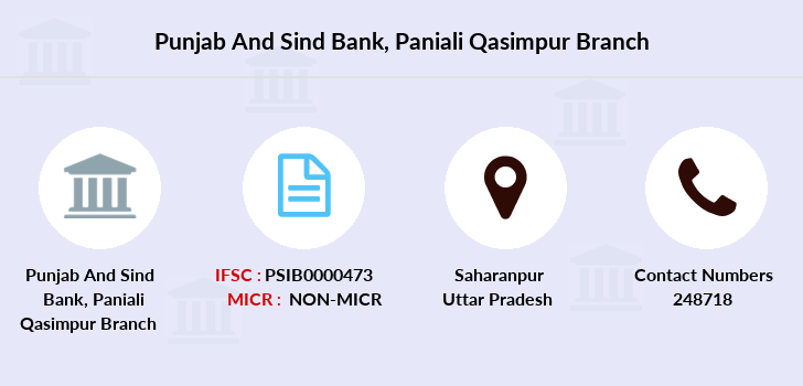Punjab-and-sind-bank Paniali-qasimpur branch