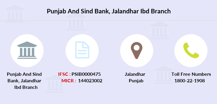 Punjab-and-sind-bank Jalandhar-ibd branch