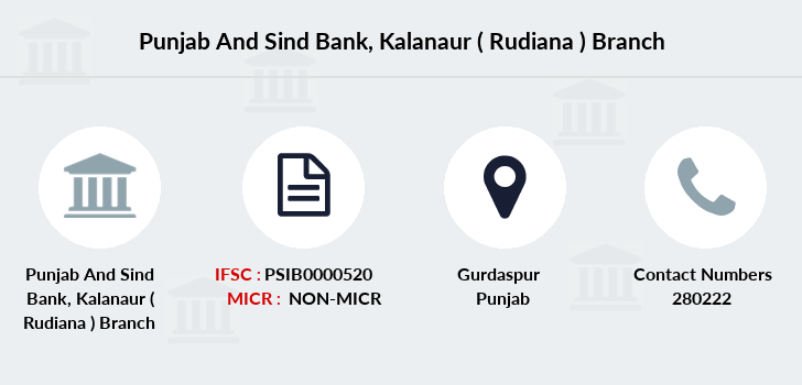 Punjab-and-sind-bank Kalanaur-rudiana branch