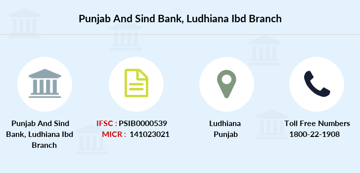 Punjab-and-sind-bank Ludhiana-ibd branch