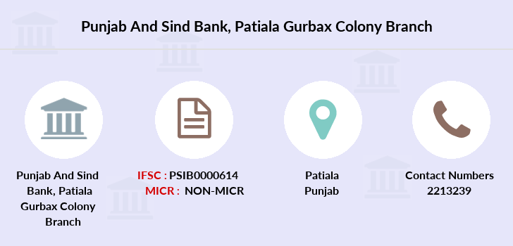 Punjab-and-sind-bank Patiala-gurbax-colony branch