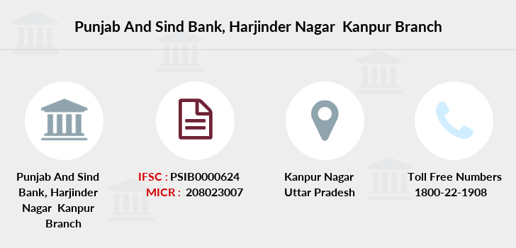 Punjab-and-sind-bank Harjinder-nagar-kanpur branch