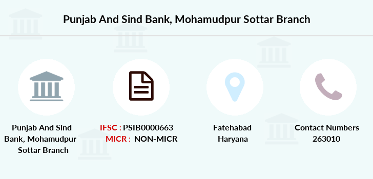 Punjab-and-sind-bank Mohamudpur-sottar branch