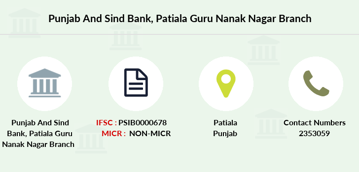 Punjab-and-sind-bank Patiala-guru-nanak-nagar branch
