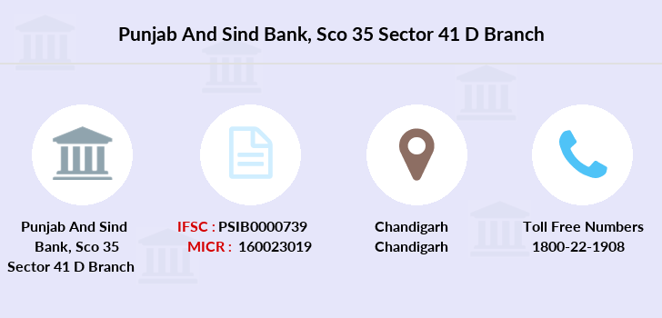 Punjab-and-sind-bank Sco-35-sector-41-d branch
