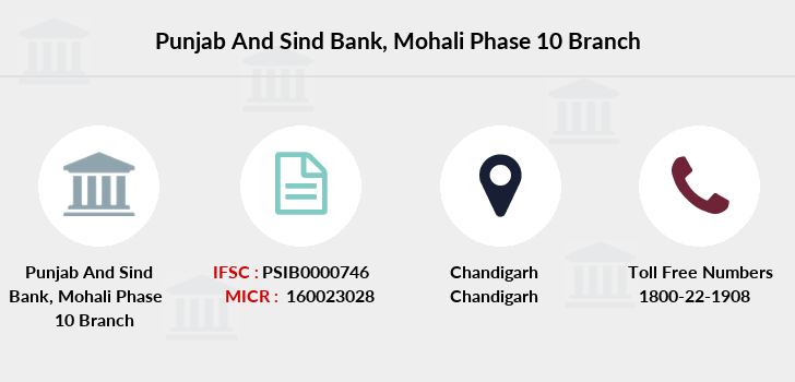Punjab-and-sind-bank Mohali-phase-10 branch