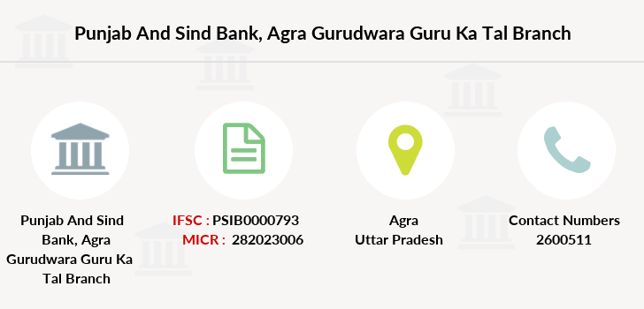 Punjab-and-sind-bank Agra-gurudwara-guru-ka-tal branch