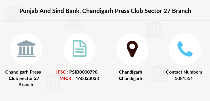 Punjab-and-sind-bank Chandigarh-press-club-sector-27 branch