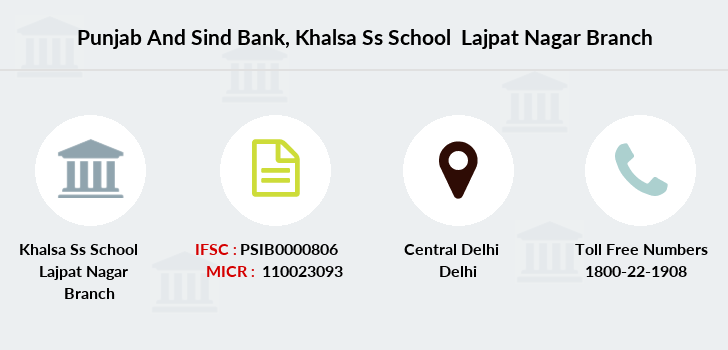 Punjab-and-sind-bank Khalsa-ss-school-lajpat-nagar branch