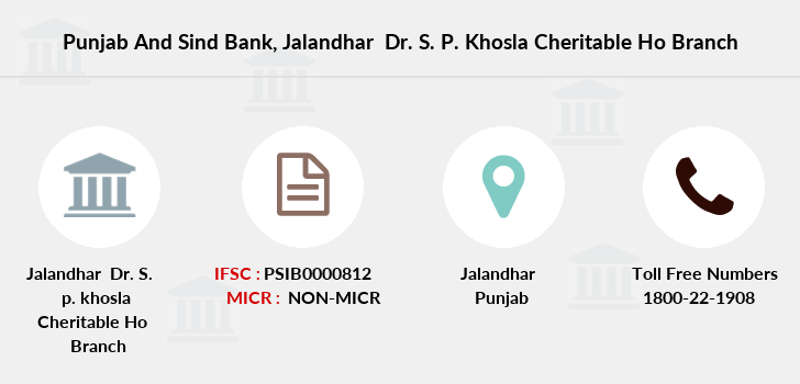 Punjab-and-sind-bank Jalandhar-dr-s-p-khosla-cheritable-ho branch
