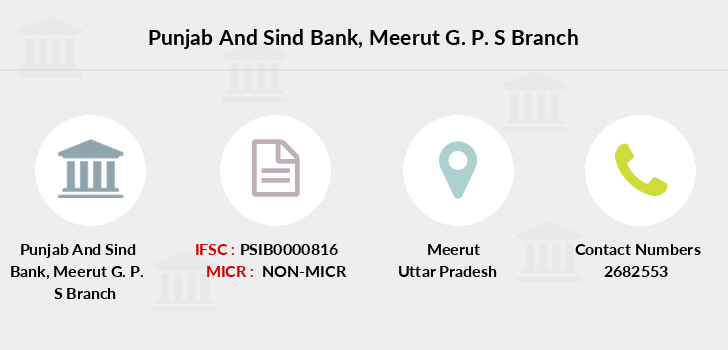 Punjab-and-sind-bank Meerut-g-p-s branch