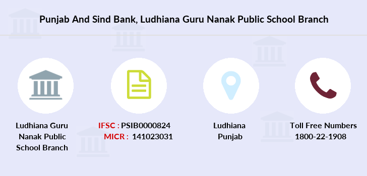Punjab-and-sind-bank Ludhiana-guru-nanak-public-school branch