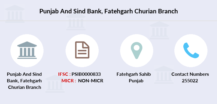 Punjab-and-sind-bank Fatehgarh-churian-guru-nanak-high-scho branch
