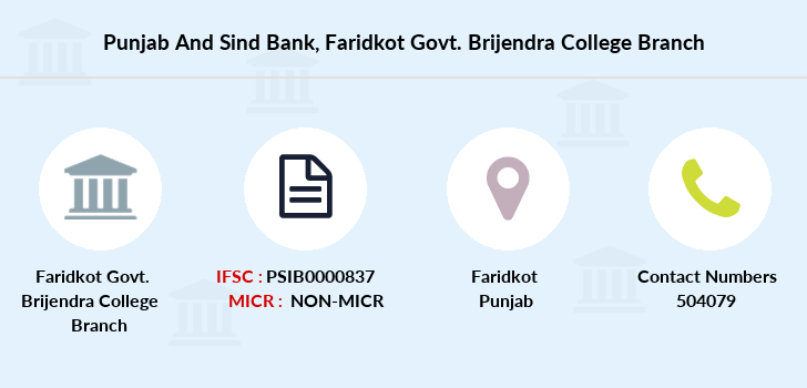 Punjab-and-sind-bank Faridkot-govt-brijendra-college branch