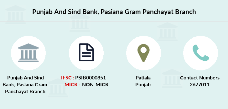 Punjab-and-sind-bank Pasiana-gram-panchayat branch