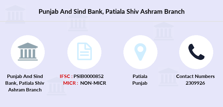 Punjab-and-sind-bank Patiala-shiv-ashram branch