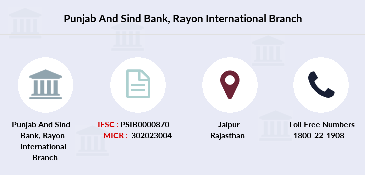 Punjab-and-sind-bank Rayon-international branch