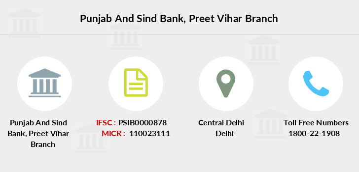 Punjab-and-sind-bank Preet-vihar branch