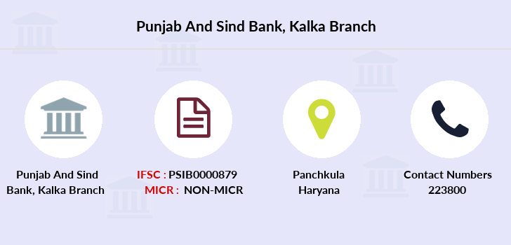 Punjab-and-sind-bank Kalka branch