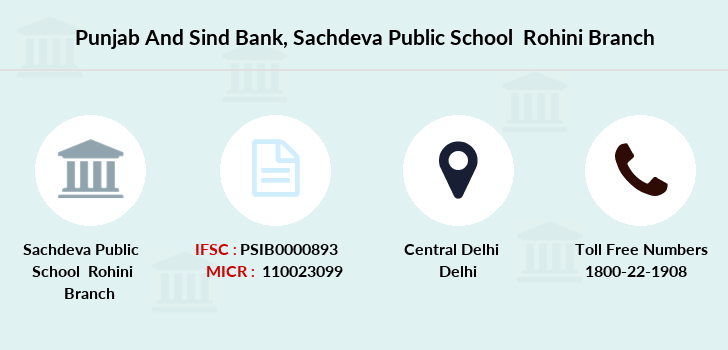 Punjab-and-sind-bank Sachdeva-public-school-rohini branch