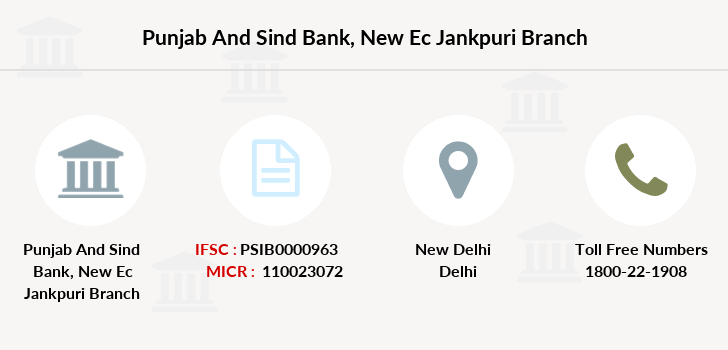 Punjab-and-sind-bank New-ec-jankpuri branch
